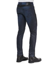 Rocco 2-Tone Coated Moto Jeans