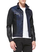 Danny Two-Tone Denim Moto Jacket