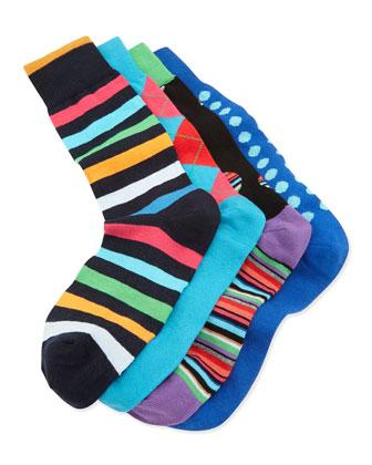 Multicolored Sock Cube Set, Blue