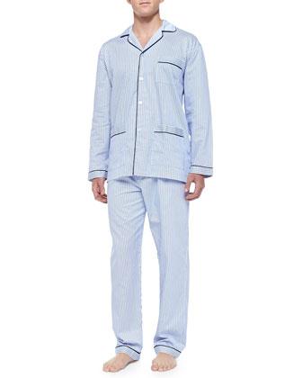 Striped Pajama Set, Blue