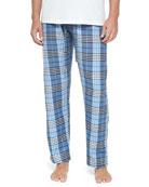 Plaid Two-Piece Pajama Set, Blue Multi