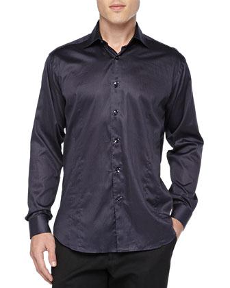 Blake Dot-Print Sport Shirt, Navy