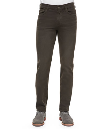 Luxe Performance: Slimmy Dark Earth Jeans