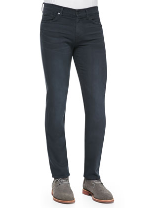 Luxe Performance: Slimmy Heather Black Jeans