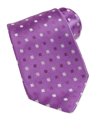 Neat Silk Tie, Purple
