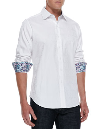 Salisbury Tonal-Jacquard Sport Shirt