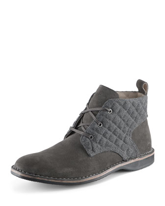Dorchester Canvas & Leather Chukka Boot, Gray