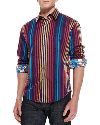 Palladium Striped Jacquard Sport Shirt