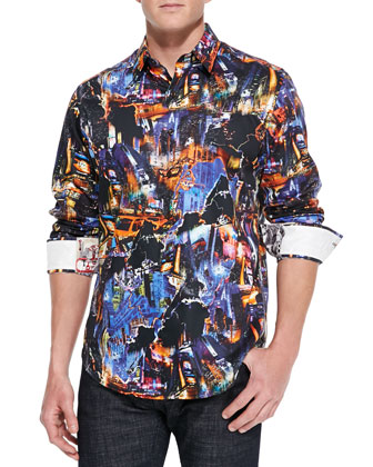Happy Valley Abstract Sport Shirt