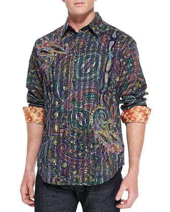 Multi-Print Buttoned Shirt