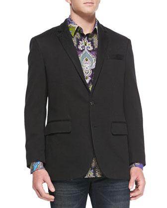 Laurelton Tonal-Paisley Jacket, Black