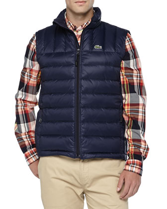 Packable Down Vest, Navy