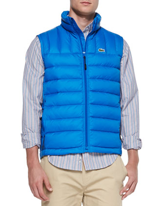 Packable Down Vest, Blue