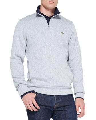 Half-Zip Pullover Sweatshirt, Gray