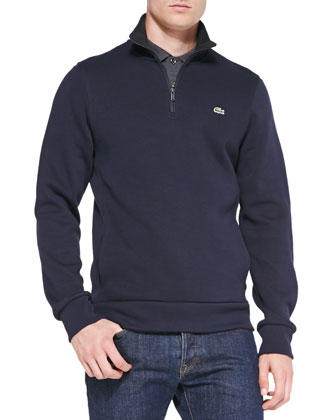 Half-Zip Pullover Sweatshirt, Navy