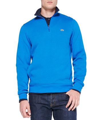 Half-Zip Pullover Sweatshirt, Blue