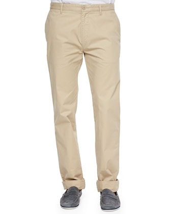 Slim Gabardine Chino Pants, Tan