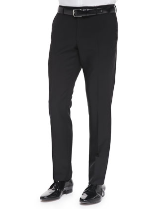 Wool/Mohair Tailored Trousers, Black