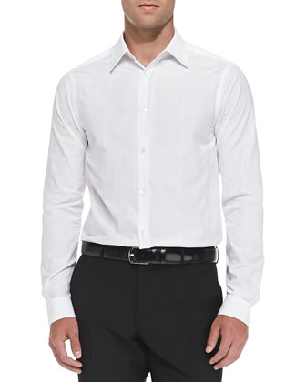 Woven Button-Down Shirt, White