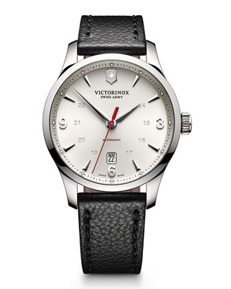 Alliance Mechanical Watch with Leather Strap
