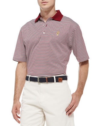 ASU Striped Gameday College Polo Shirt