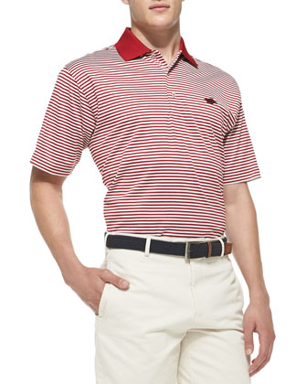 University of Arkansas Striped Gameday College Polo Shirt