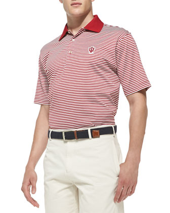 Indiana University Striped Gameday College Polo Shirt