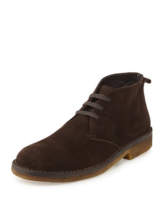 Suede Crepe-Sole Chukka Boot, Brown