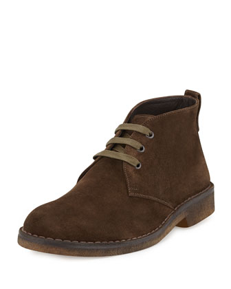 Suede Crepe-Sole Chukka Boot,, Olive