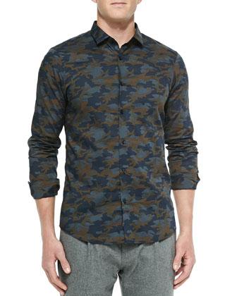 Slim-Fit Camo-Print Shirt