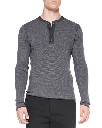 Long-Sleeve Henley Shirt