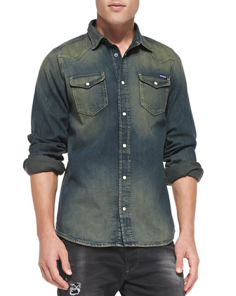 New-Senora Vintage Denim Shirt