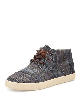 Paseo Printed Leather Mid Sneaker