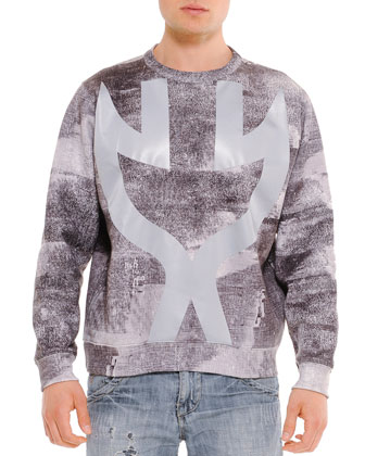 Graphic Predator Sweatshirt, Gray