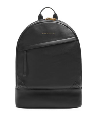 Kastrup Leather Backpack, Black