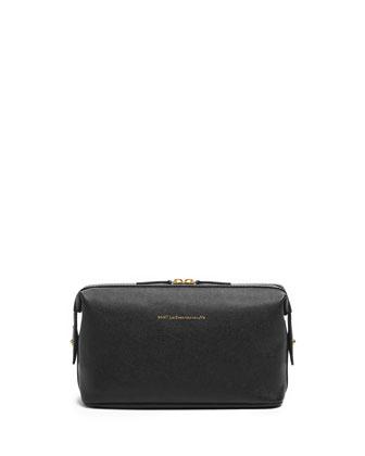 Kenyatta Leather Travel Kit, Black