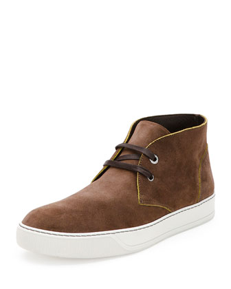 Suede Desert Boot Sneaker, Brown