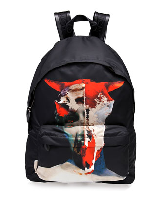 Bull/Skull Printed Backpack