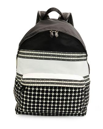 Keffieh Printed Nylon Backpack