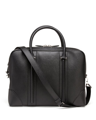 Stamped Leather Zip Briefcase