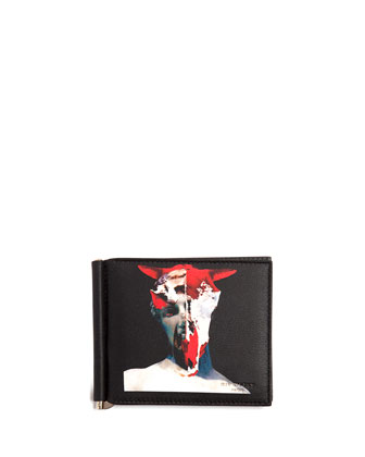 Abstract-Print Money Clip Wallet