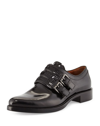 Napoleone Leather Double-Monk Shoe