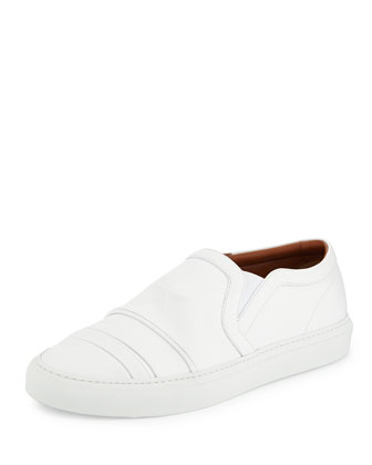 Star Leather Skate Sneaker, White