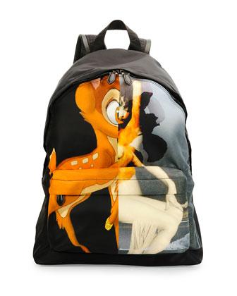 Fawn & Figure Men's Nylon Backpack, Black