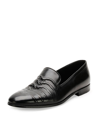 Leather Ribcage Loafer, Black