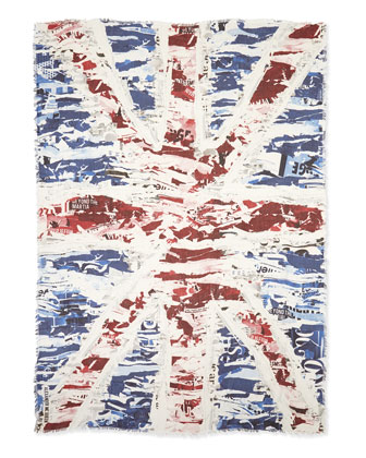 Men's Torn Union Jack Scarf