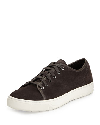 Austin Suede Low-Top Sneaker, Graphite