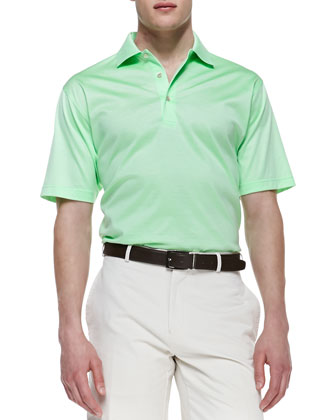 Short-Sleeve Jersey Polo, Green