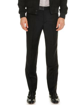 Textured Nylon Bomber Jacket, Mini-Skull Short-Sleeve Poplin Shirt & ...