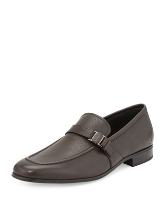 Pinot Side-Buckle Vara Loafer, Brown